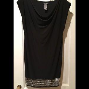 Sexy Stretchy Black Cocktail Dress Bisou size 6